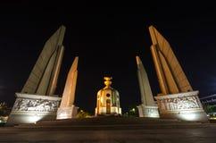Democracy Monument at night, Bangkok, Thailand Stock Images