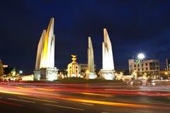 Democracy monument at night Stock Photo