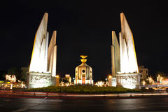 Democracy monument at night Stock Photography