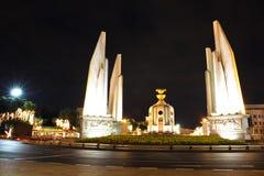 Democracy monument at night Royalty Free Stock Photo
