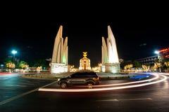 Democracy monument at night , Bangkok - Thailand. Stock Photos