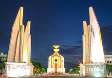 Democracy Monument at night Stock Photos
