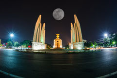 Democracy Monument at night landscape. Background Stock Image