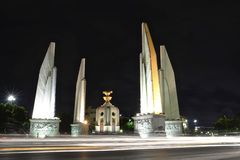 Democracy Monument. At night time royalty free stock photo