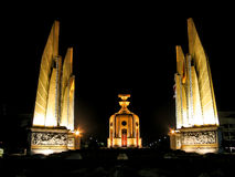 Democracy Monument in The Night Time   Royalty Free Stock Photo