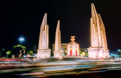 The Democracy Monument at night time at Bangkok,Thailand. A The Democracy Monument at night time at Bangkok,Thailand royalty free stock photos