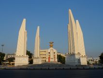 The Democracy Monument is a public monument in the centre of Bangkok, capital of Thailand. It occupies a traffic circle on the wid. E east-west Ratchadamnoen royalty free stock images