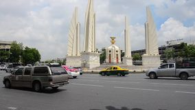 Democracy Monument is a public monument in the centre of Bangkok, capital of Thailand stock video
