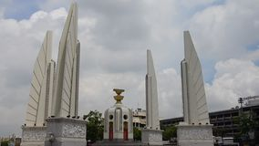 Democracy Monument is a public monument in the centre of Bangkok, capital of Thailand stock footage