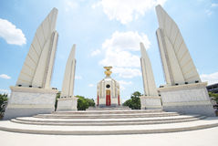 Democracy Monument on Ratchadamnoen Avenue at Bangkok in Thailand. Royalty Free Stock Photo
