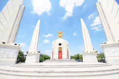 Democracy Monument on Ratchadamnoen Avenue at Bangkok in Thailand. Stock Photo
