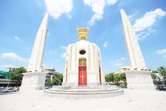 Democracy Monument on Ratchadamnoen Avenue at Bangkok in Thailand. Royalty Free Stock Photography