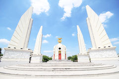 Democracy Monument on Ratchadamnoen Avenue at Bangkok in Thailand. Stock Image