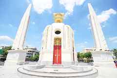Democracy Monument on Ratchadamnoen Avenue at Bangkok in Thailand. Stock Photos