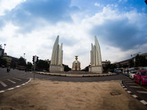 Democracy Monument on Ratchadamnoen Road. Bangkok, Thailand stock photos