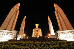 Democracy monument of Thailand. In center of Bangkok stock image