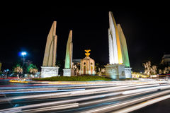 Democracy monument, Thailand. Long exposure on Democracy monument at night in Bangkok, Thailand Stock Image