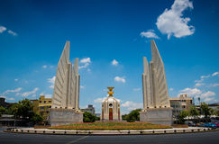Democracy Monument. There are many stories hidden stock photo
