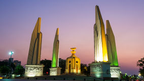 Democracy Monument with twilight sky Royalty Free Stock Images