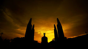 The Democracy Monument at twilight time Royalty Free Stock Photography