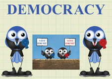 Democracy with politicians Royalty Free Stock Photo