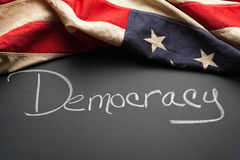 Democracy sign Stock Images