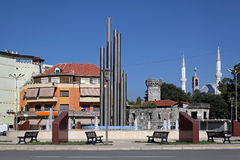 Democracy Square Shkoder. Democracy square in Shkoder city centre Albania royalty free stock image