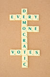 Democracy where every one votes. Royalty Free Stock Image