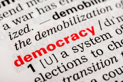 Democracy Word Definition Royalty Free Stock Images
