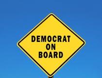 Democrat à bord Photos libres de droits