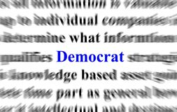Democrat ilustración del vector