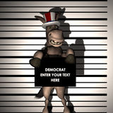 Democrat - Arrested Stock Photo