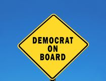 Democrat an Bord Lizenzfreie Stockfotos