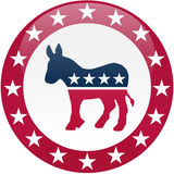 Democrat Button - White and Red Royalty Free Stock Photography