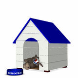 Democrat - Doghouse 1 Royalty Free Stock Photo