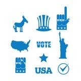 Democrat donkey election icon set. Symbols of political parties Stock Photo