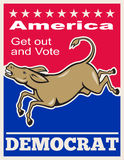 Democrat Donkey Mascot America Vote Stock Photos