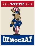 Democrat Donkey Mascot Thumbs Up Flag Stock Image