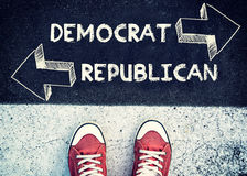 Democrat e republicano foto de stock royalty free