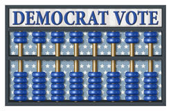 Democrat Election Abacus Royalty Free Stock Photo