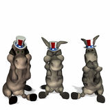Democrat [Enter Platform Here] Platform. Political humor vector illustration