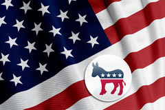 Democrat Logo on American Flag Stock Images