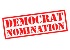 DEMOCRAT NOMINATION. Over a white background Royalty Free Stock Image