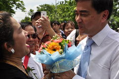 Democrat Party leader Abhisit Vejjajiva Royalty Free Stock Photo