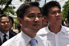Democrat Party leader Abhisit Vejjajiva Royalty Free Stock Images