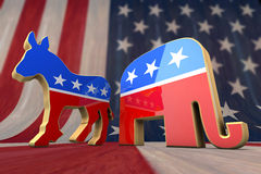 Democrat and Republican royalty free illustration