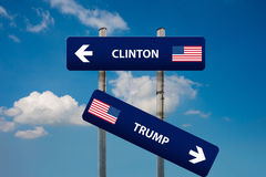 Democrat and republican concepts in american election. Concept of 2016 USA elections (Clinton vs Trump Stock Photo