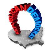 Democrat Republican Election Race Stock Photo