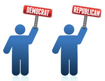Democrat and republican icons Royalty Free Stock Photos