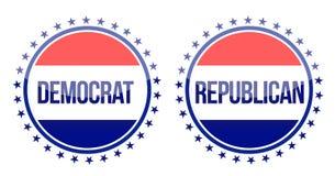 Democrat and republican seals Stock Image